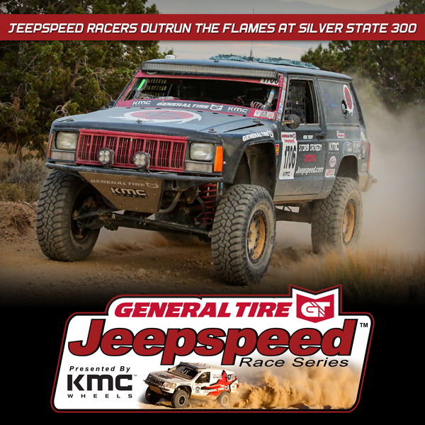 Jeepspeed Racers Outrun The Flames At Crazy BITD Silver State 300